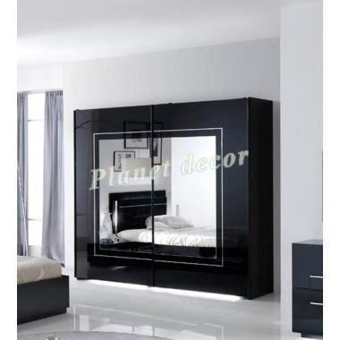 Commode Chambre Adulte City Noir L240cm Achat Vente Armoire De Chambre Commode Chambre