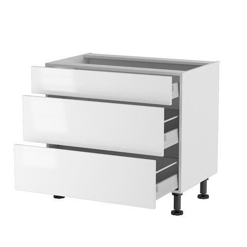 Meuble cuisine bas 90cm 1 tiroir 2 casseroliers achat for Meuble 90 cm largeur