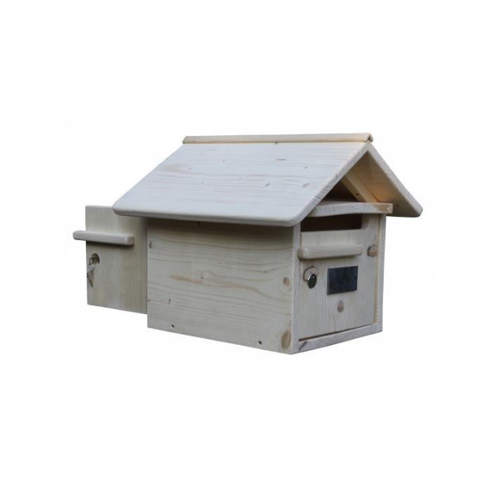 boite aux lettres bois maillat 2 portes achat vente boite aux lettres soldes cdiscount. Black Bedroom Furniture Sets. Home Design Ideas