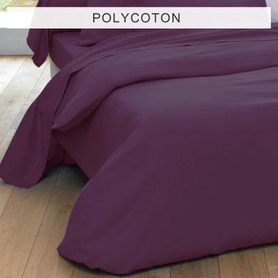 housse de couette 2 personnes unie polycoton vi achat vente housse de couette cdiscount. Black Bedroom Furniture Sets. Home Design Ideas