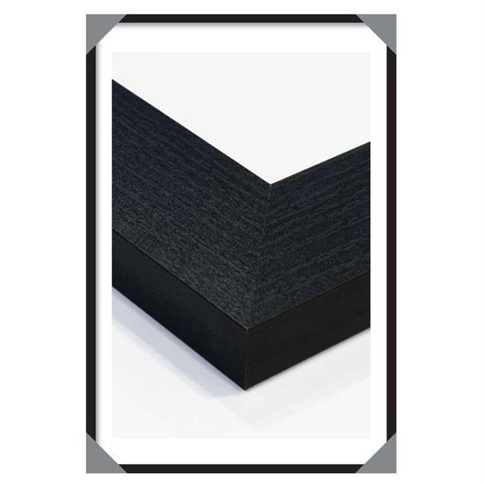 cadre en bois noir mini 40 x 50cm achat vente cadre photo bois soldes d t cdiscount. Black Bedroom Furniture Sets. Home Design Ideas