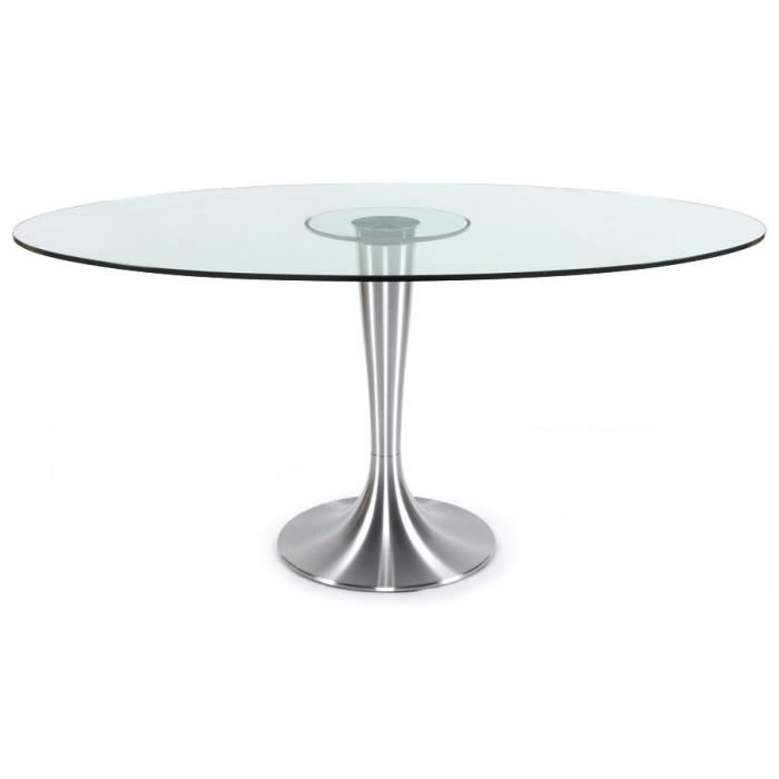 Table D Ner Design 39 Krysty 39 Ovale En Verre 160x108 Cm