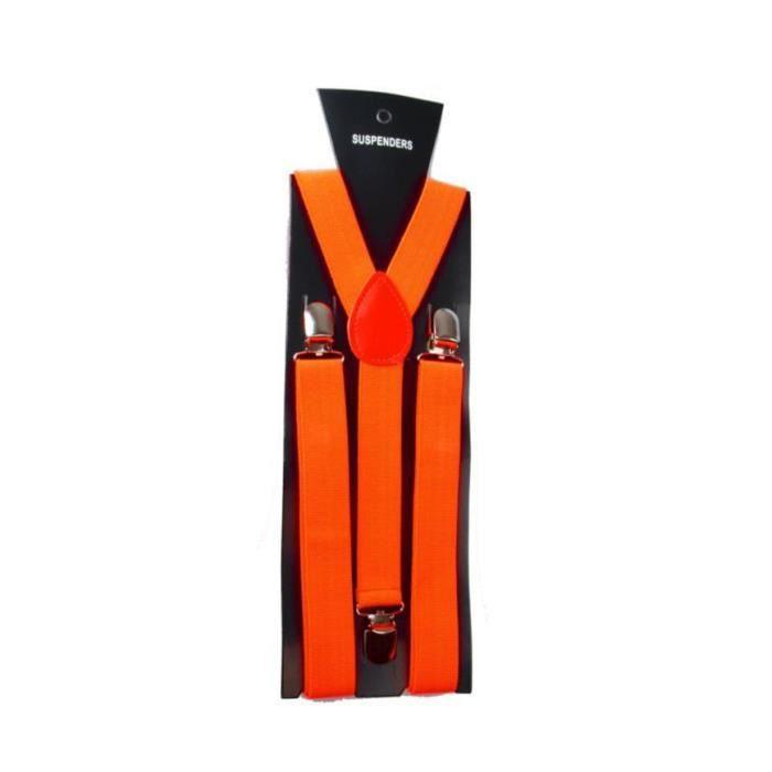 bretelle de pantalon r glable y forme orange femme homme. Black Bedroom Furniture Sets. Home Design Ideas