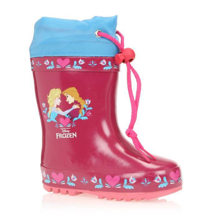 frozen la reine des neiges bottes de pluie chaussures enfant fille rose et bleu achat. Black Bedroom Furniture Sets. Home Design Ideas