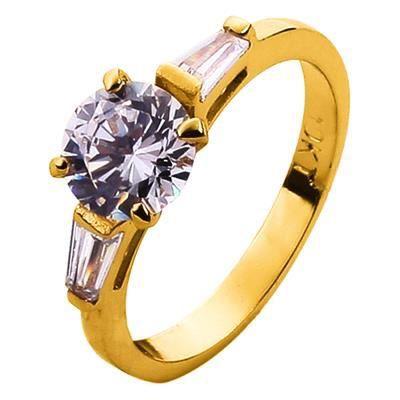 bague anneau bague de mariage fianailles promesse en or jaun - Anneau ...