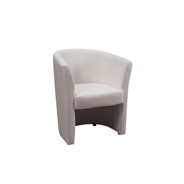 Fauteuil cabriolet blanc belize achat vente fauteuil bois pin panneaux - Fauteuil cabriolet blanc ...