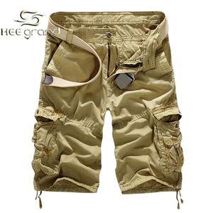 BERMUDA HEE GRAND Homme Bermuda Short Coton sans Ceintu...