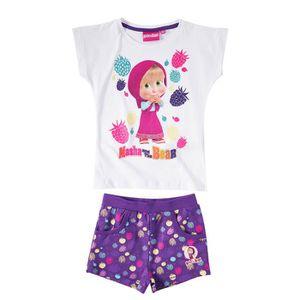 Ensemble de vêtements Masha et Michka   T-shirt et short
