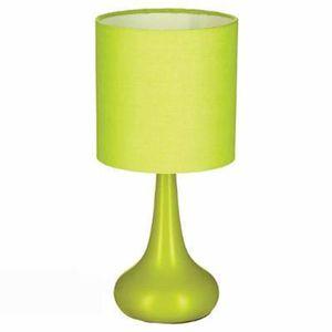 LAMPE A POSER Lampe de chevet tactile coloris vert anis, H 33 x