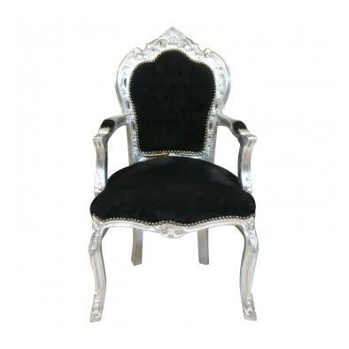chaise baroque argent. Black Bedroom Furniture Sets. Home Design Ideas