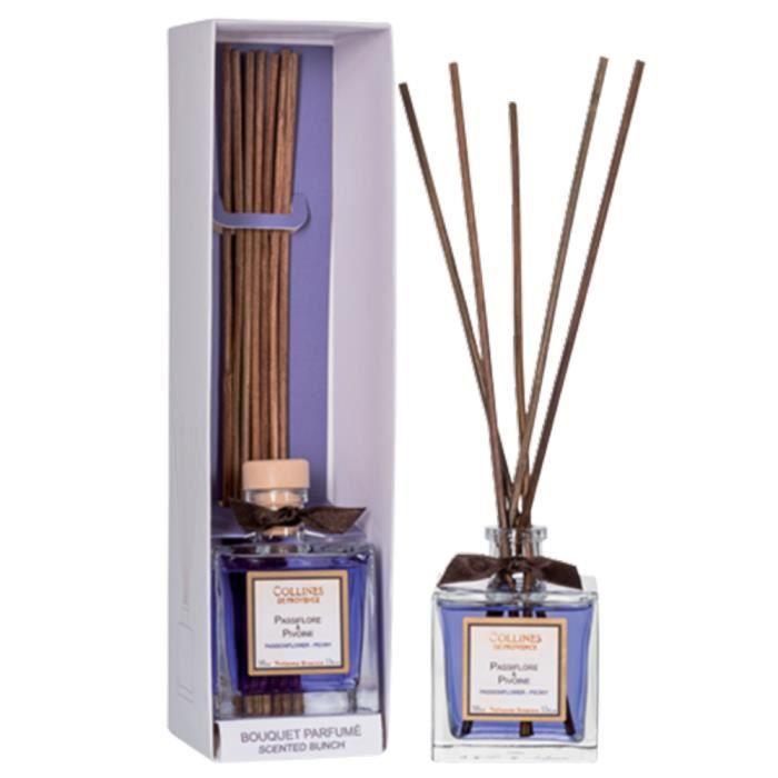 bouquet parfum passiflore et pivoine collines de provence achat vente diffuseur de parfum. Black Bedroom Furniture Sets. Home Design Ideas