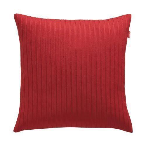 Housse de coussin rouge 38x38 lane achat vente coussin for Housse coussin rouge