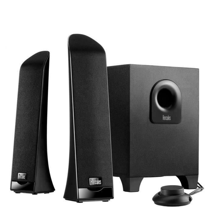 hercules enceintes 2 1 slim enceintes ordinateur avis et prix pas cher cdiscount. Black Bedroom Furniture Sets. Home Design Ideas