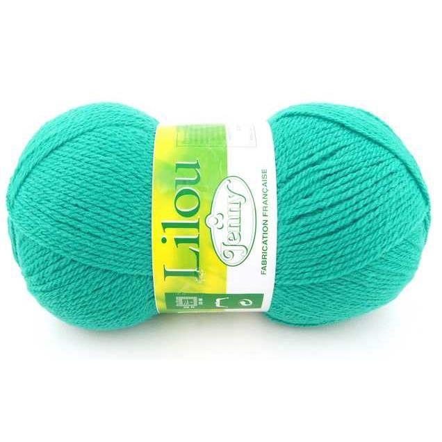 grosse pelote laine 150g jenny lilou vert tur achat vente laine a tricoter pelote. Black Bedroom Furniture Sets. Home Design Ideas