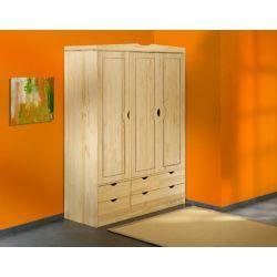 Armoire clint pin massif vernis naturel achat vente armoire de chambre ar - Armoire en pin blanc ...