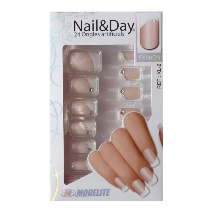 24 faux ongles nail day xl 2 colle achat vente faux ongles pose faux ongles xl 2 cdiscount. Black Bedroom Furniture Sets. Home Design Ideas