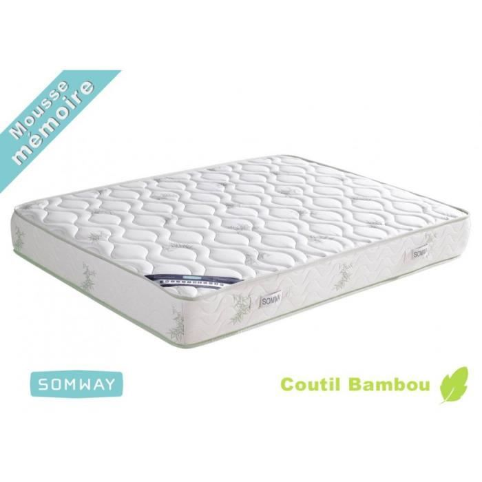 matelas mousse bambootech dimensions 160 x 200 achat vente matelas cdiscount. Black Bedroom Furniture Sets. Home Design Ideas