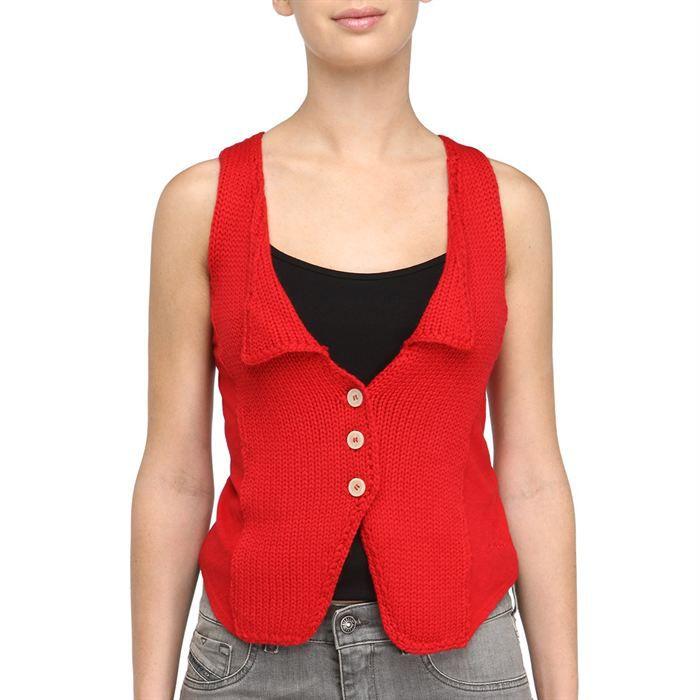 diesel gilet trochy femme rouge achat vente gilet cardigan cdiscount. Black Bedroom Furniture Sets. Home Design Ideas