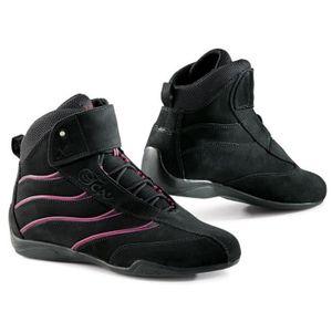 CHAUSSURE - BOTTE TCX X-Square Lady Chaussures Moto Noir et Rose
