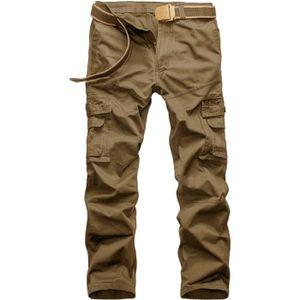 Pantalon coton homme multi poches achat vente pantalon - Que porter avec un pantalon marron homme ...