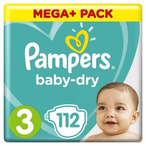 Pampers baby dry couches taille 3 x112 achat vente couche 4015400833420 cdiscount - Couche baby dry taille 3 ...