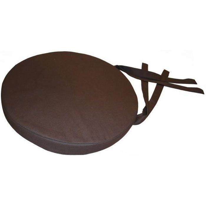 galette de chaise ronde 40x4 cm chocolat achat vente. Black Bedroom Furniture Sets. Home Design Ideas