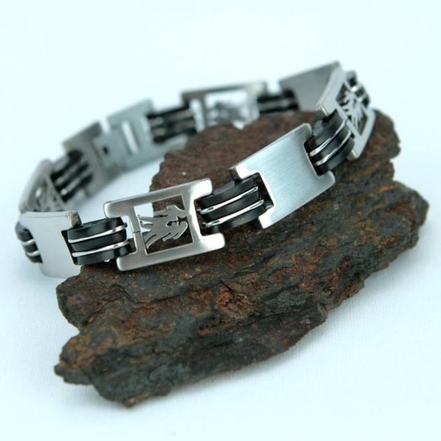 bracelet acier homme signe zodiaque g meaux brsz1 achat vente bracelet gourmette bracelet. Black Bedroom Furniture Sets. Home Design Ideas