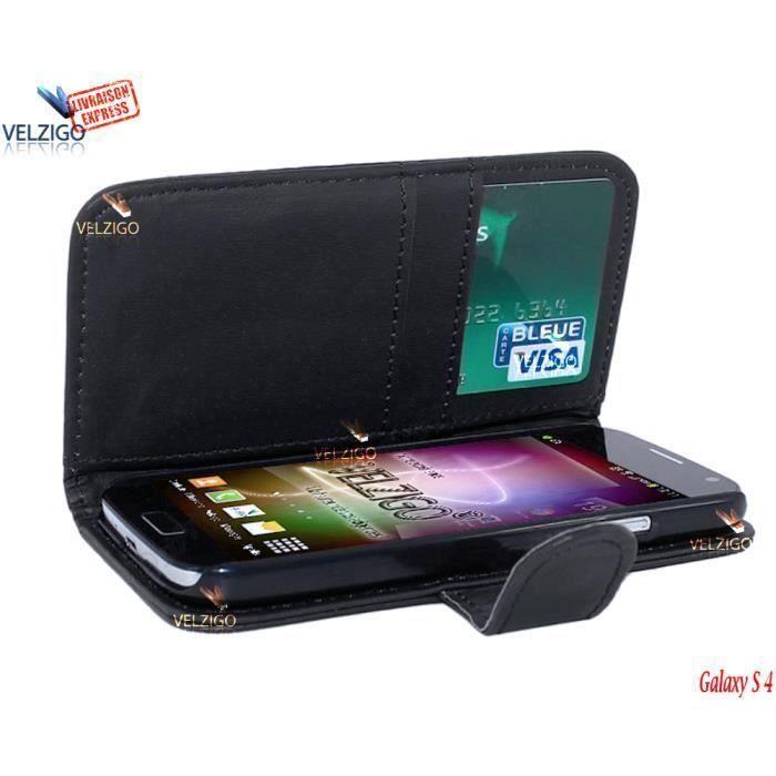 velzigo de samsung galaxy s4 housse coque etui bumper case pour mobile pochette portefeuille. Black Bedroom Furniture Sets. Home Design Ideas