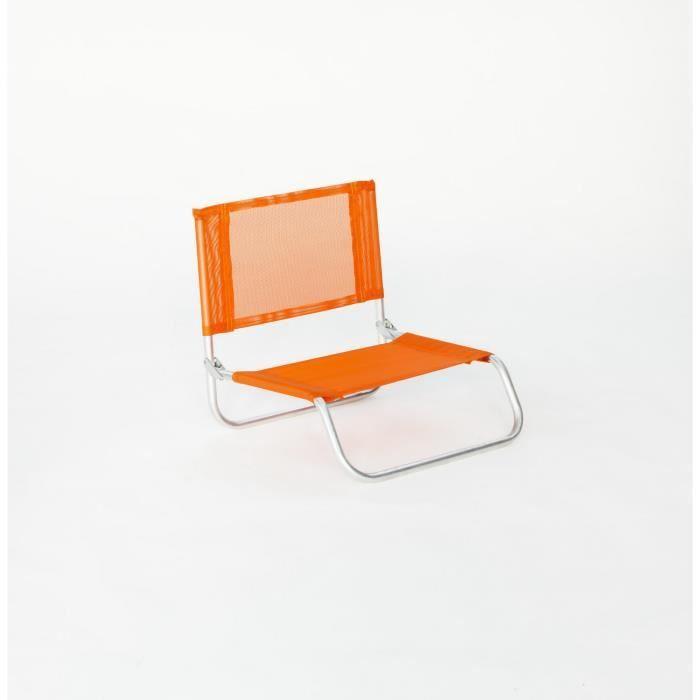 siege plage basic 90al 1 pl orange achat vente chaise longue siege plage modele 20177. Black Bedroom Furniture Sets. Home Design Ideas