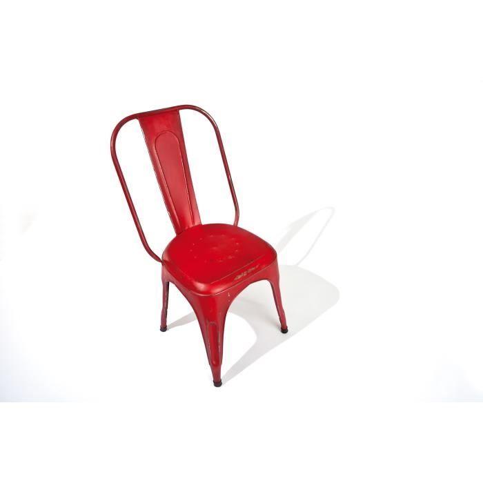 Lot de 4 chaises industrielles bangalore couleu achat vente chaise m tal - Chaises industrielles metal ...