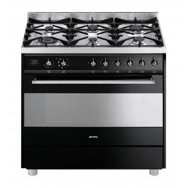 Piano de cuisson 90cm dessus gaz noir brillant achat - Piano de cuisson 90 cm ...