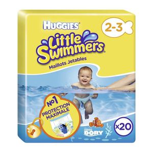 COUCHE HUGGIES Maxi Pack Little Swimmers - Taille 2-3 - 2