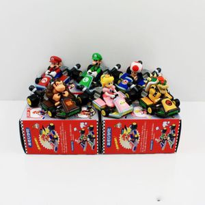 FIGURINE - PERSONNAGE Super Mario Kart Pull Back Car 6 styles Kart Actio