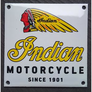 affiches anciennes ou pubs indian Plaque-emaillee-indian-motorcycle-tole-email