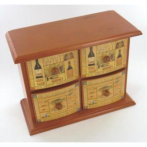 Boites de rangement a tiroirs en bois achat vente boites de rangement a t - Petit rangement tiroir bois ...