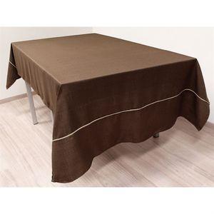 nappe couleur chocolat achat vente nappe couleur chocolat pas cher cdiscount. Black Bedroom Furniture Sets. Home Design Ideas
