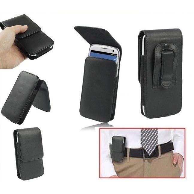 tui housse clip verticale ceinture pince en pu souple. Black Bedroom Furniture Sets. Home Design Ideas