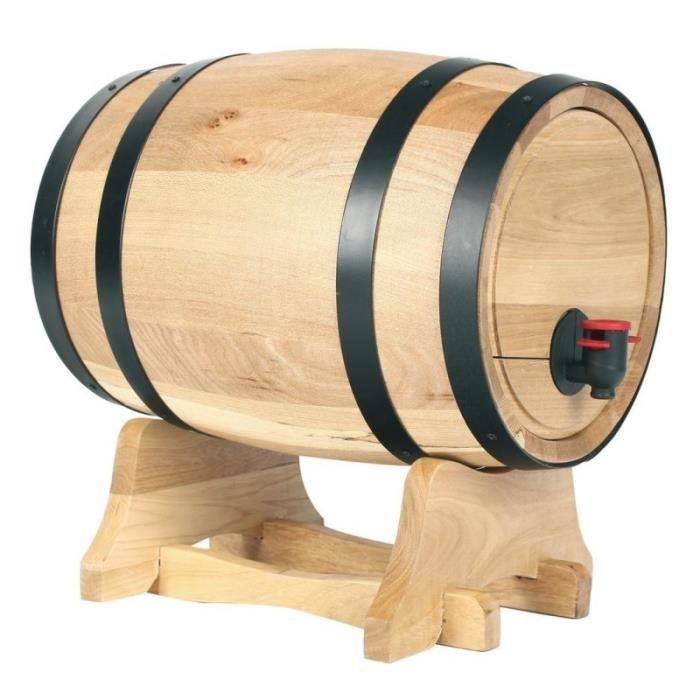 distributeur de vin en forme de tonneau 5 5 l compatible recharges classiques achat. Black Bedroom Furniture Sets. Home Design Ideas