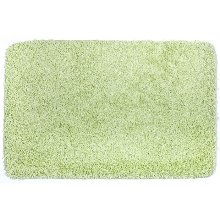 tapis de bain shaggy vert clair achat vente tapis de bain cdiscount. Black Bedroom Furniture Sets. Home Design Ideas
