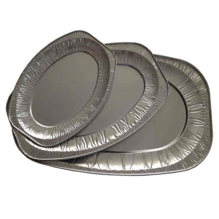 Plateaux de service en aluminium ovale 295 x 445 achat - Plat aluminium jetable ...