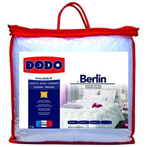 dodo 28304155 berlin couette polyester blanc 155 x 220 cm achat vente couette cdiscount. Black Bedroom Furniture Sets. Home Design Ideas