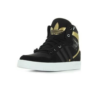 basket adidas or et noir
