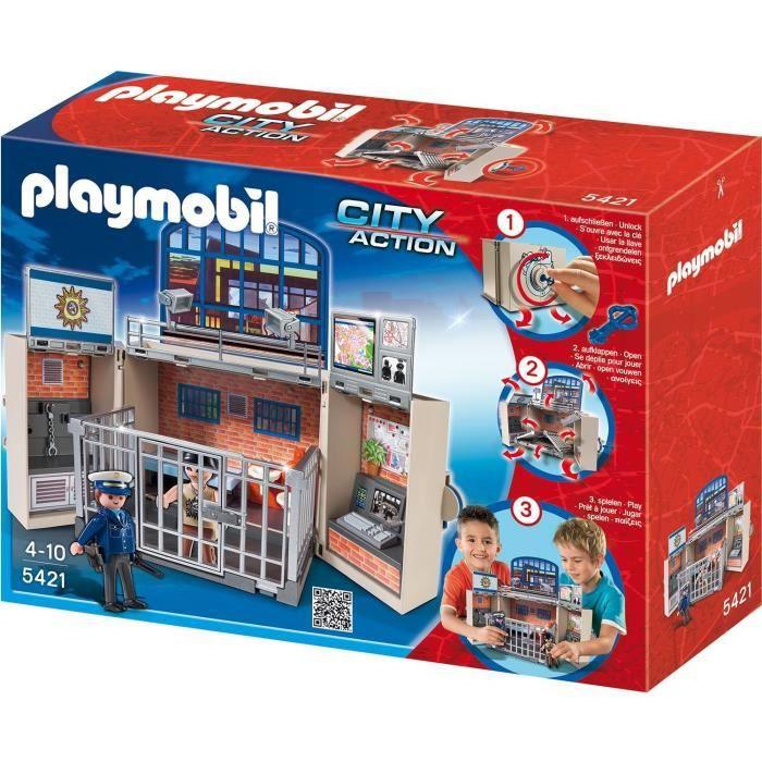 playmobil 5421 coffre poste de police achat vente univers miniature les soldes sur. Black Bedroom Furniture Sets. Home Design Ideas
