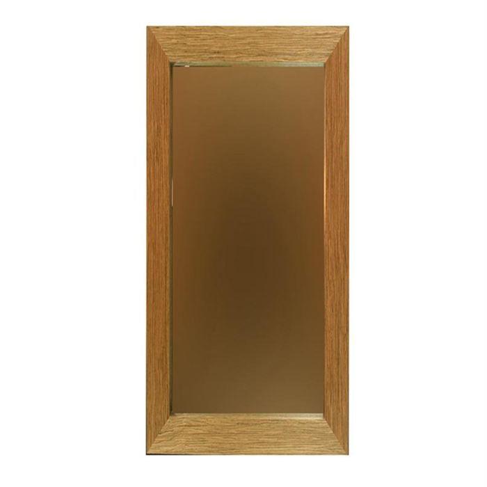 Miroir 30 x 120 cm naturel gris achat vente miroir for Miroir 120 cm