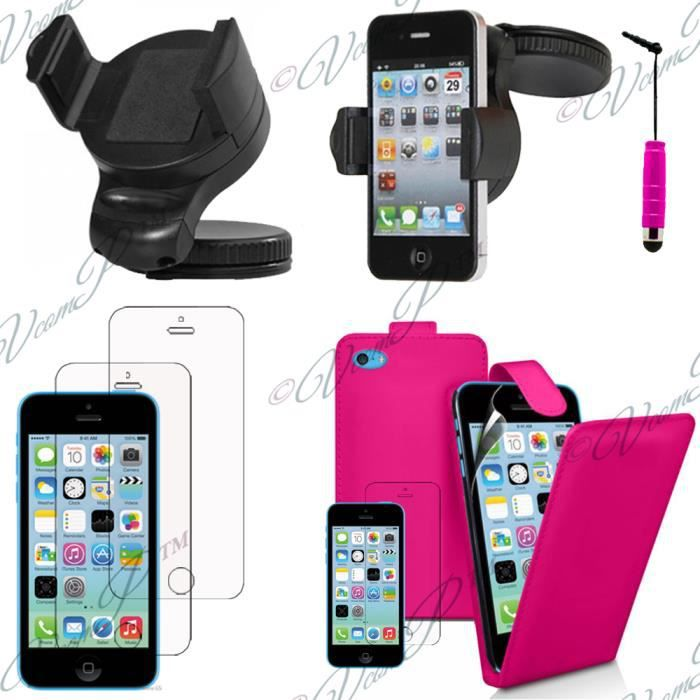lot 5 accessoires pu apple iphone 5c achat vente lot 5. Black Bedroom Furniture Sets. Home Design Ideas