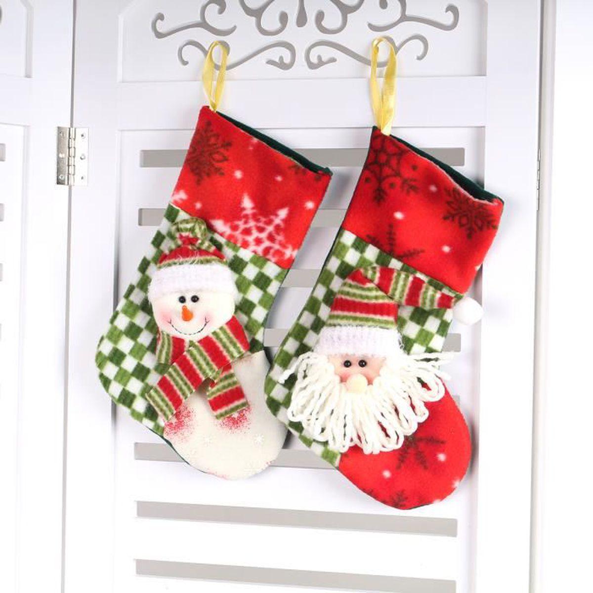 chaussette flanelle pour d coration traditionnelle noel figure bonhomme neige aimable dimension. Black Bedroom Furniture Sets. Home Design Ideas