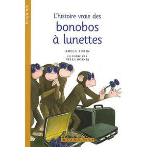 Livre 6-9 ANS L'histoire vraie des bonobos à lunettes