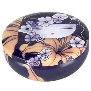 boite de rangement ronde achat vente boite de rangement ronde pas cher cdiscount. Black Bedroom Furniture Sets. Home Design Ideas