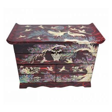 grande boite bijoux de couleur rouge design nature cor enne achat vente boite a bijoux. Black Bedroom Furniture Sets. Home Design Ideas