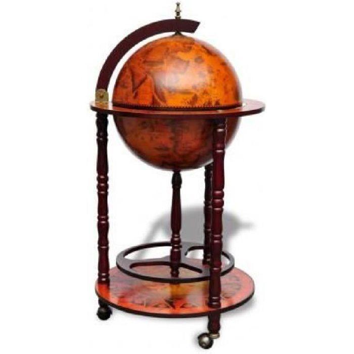 bar globe terrestre mappemonde en bois achat vente meuble bar bar globe terrestre mappemo. Black Bedroom Furniture Sets. Home Design Ideas